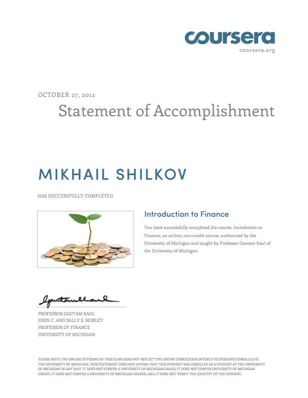 Introduction to Finance class at Coursera | Mikhail Shilkov