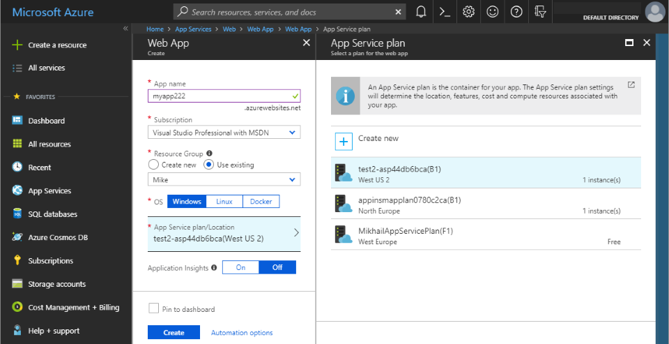 Programmable Cloud: Provisioning Azure App Service with